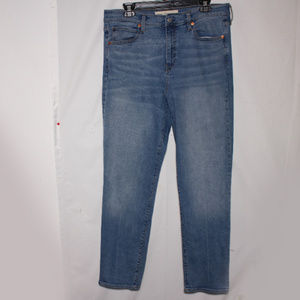 GAP1969 High Rise Blue Denim Straight Leg Jeans